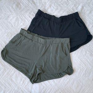 3/$30 Olive Green & Black Garage Shorts